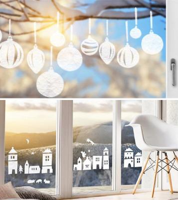 窓のクリスマスデコレーション