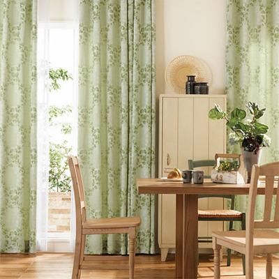 若草グリーンのカーテン