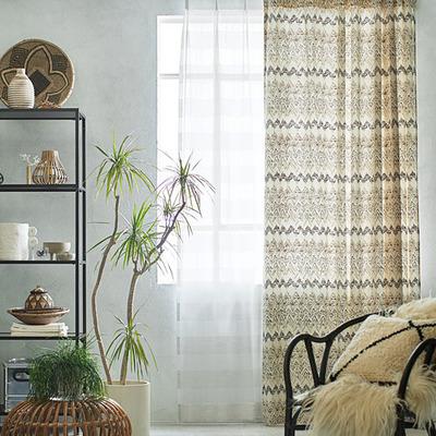 ネイティブ柄のカーテン